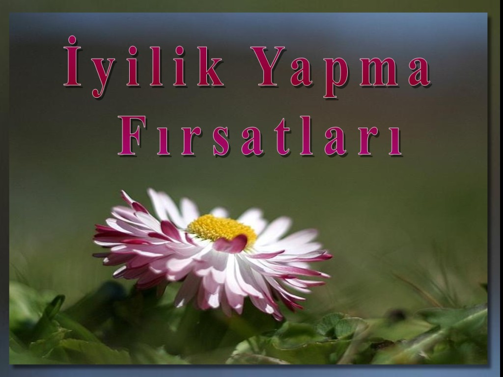 İyilik Yapma Fırsatları [Turkish: Opportunities for Kindness]