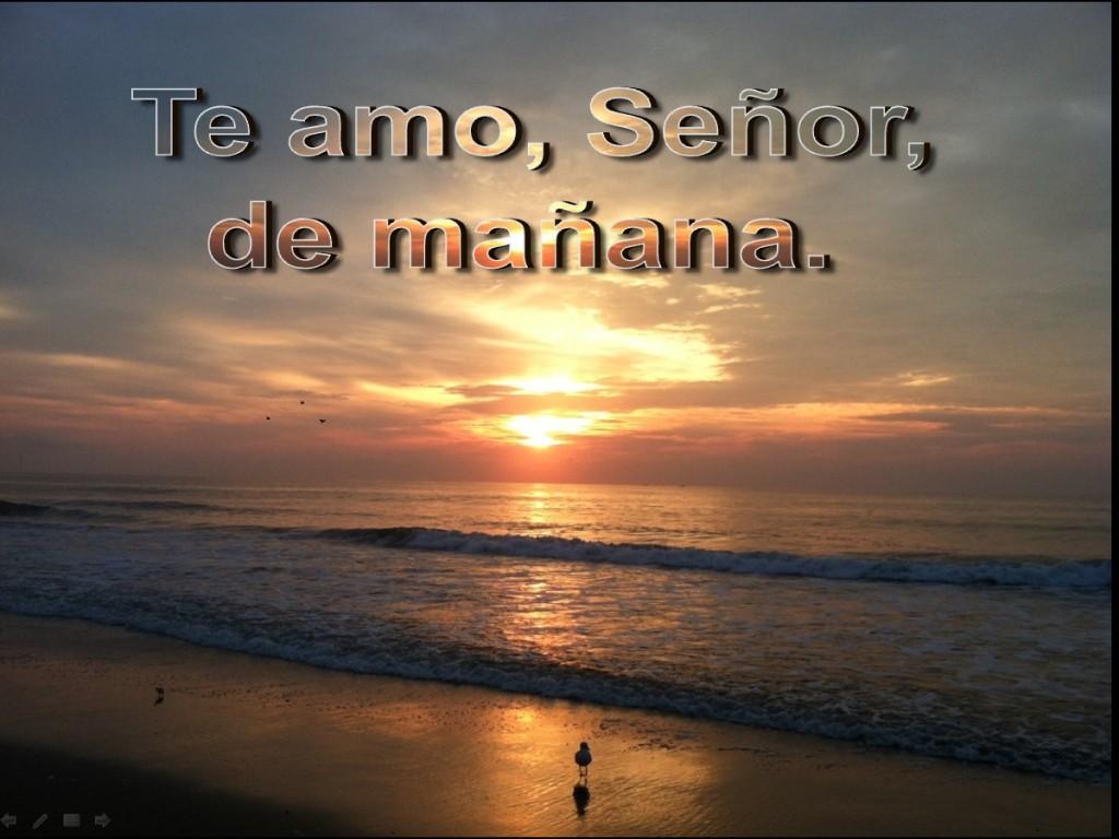 Te amo, Señor, de mañana [I Met God in the Morning]
