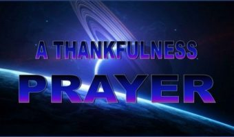 A Thankfulness Prayer