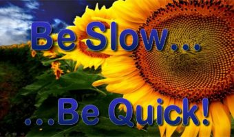 Be Slow… Be Quick!