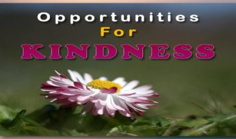 Opportunities for Kindness
